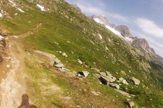 Höhenweg vor der Sidelen Hütte