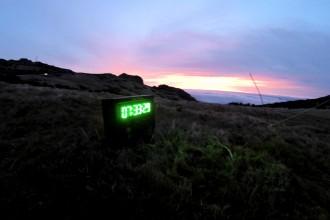 Sonnenaufgang vor dem Start