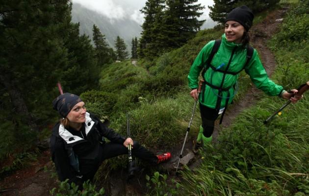 Kathi und Iwi im Uphill