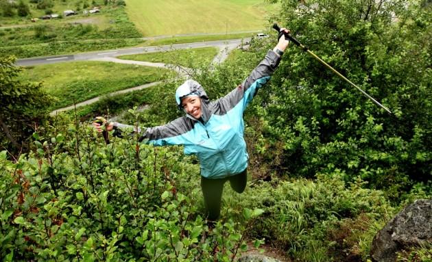 Kathrin im Uphill