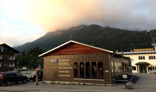 NTC Oberstdorf und das Rubihorn in Wolken