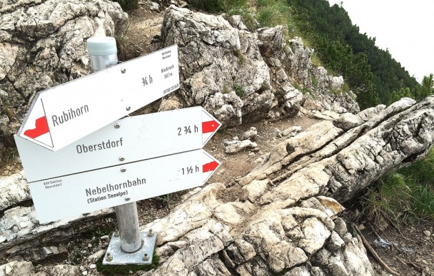 Weg ins Tal am Niedereck