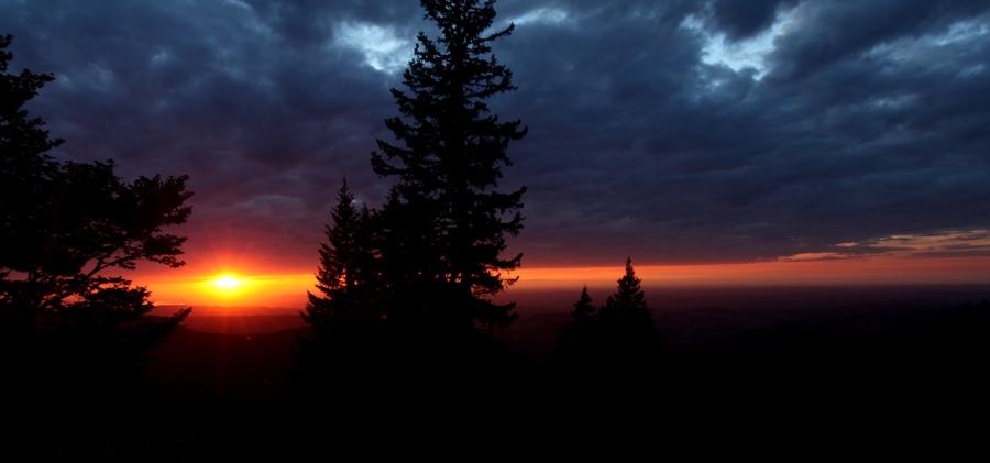 Sonnenuntergang am Hochgrat – eine Feierabendrunde