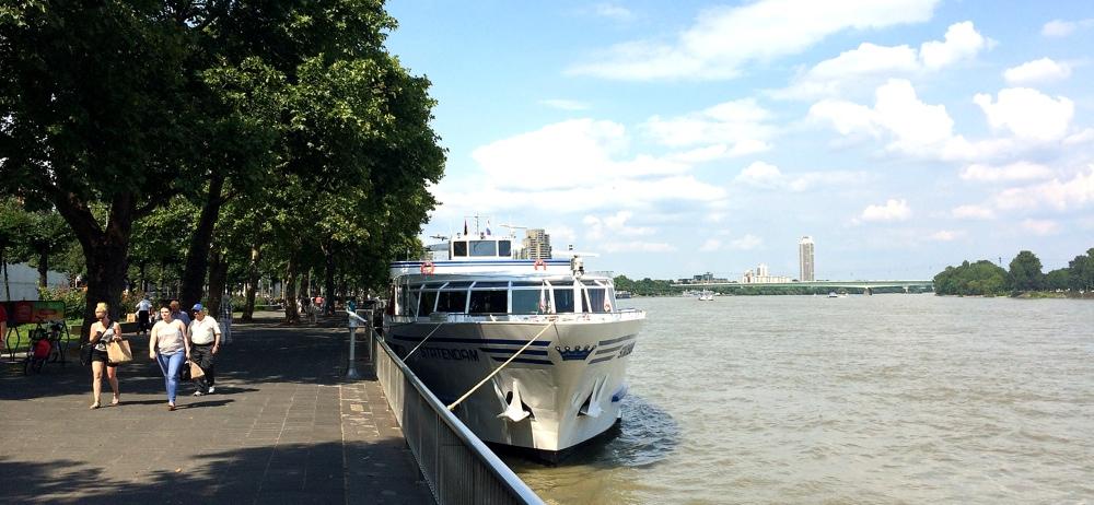 Startpunkt des Rhein Trail an der Hohenzollern Brücke