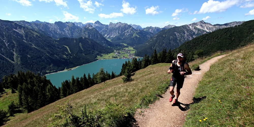 Stephan auf den Trails am Achensee