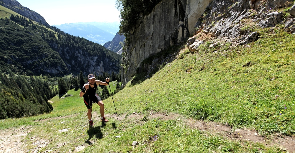 Stephan beim Uphill