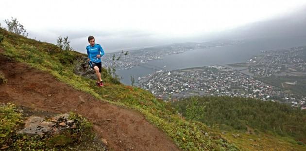 Hendrik im Downhill über Tromsö