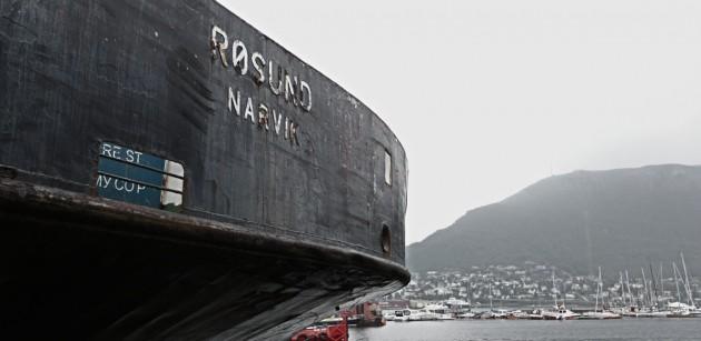 Die Røsund aus Narvik im Dock
