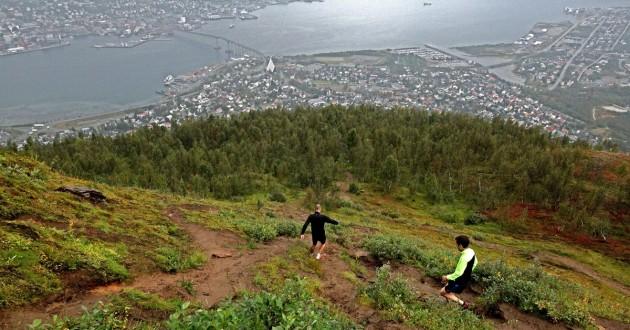 Downhill Running über Tromsö