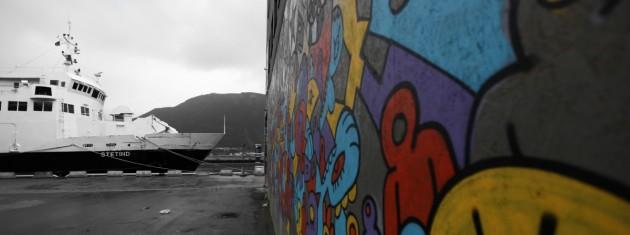 Grafitti an der Häuserwand der Dreamacademy
