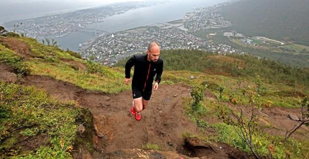 Uphill Tobias über Tromsö
