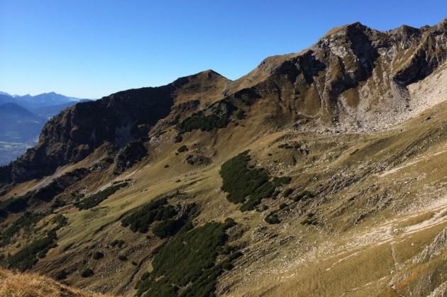 Unser Trail unterhalb des Nebelhorn
