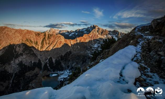 Nebelhorn Gipfel in der Abendsonne