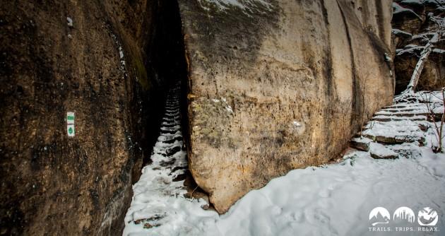 Sandstein und Klammstieg