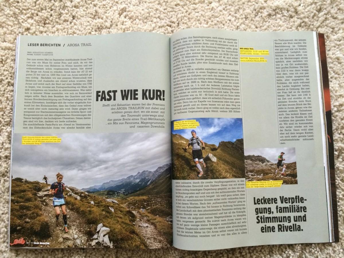 Trail Magazin Arosa Bericht
