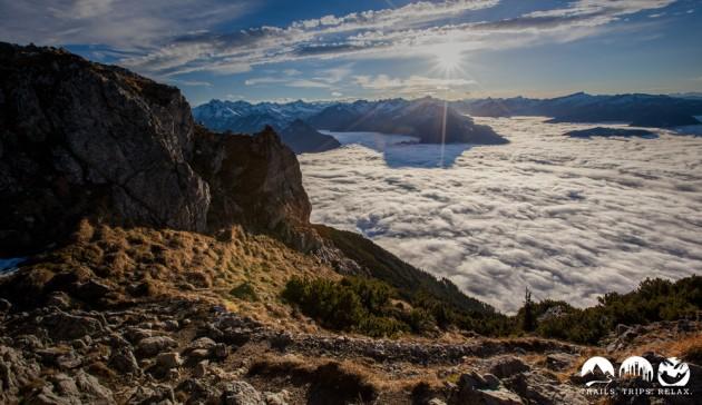 Wolkenmeer über Oberstdorf im Allgäu