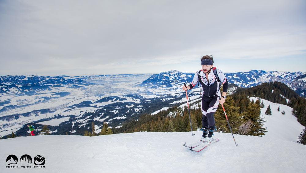 Grünten Panorama mit Florian im Uphill