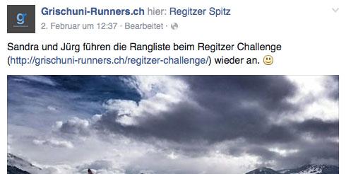 Grischuni Runners auf Facebook