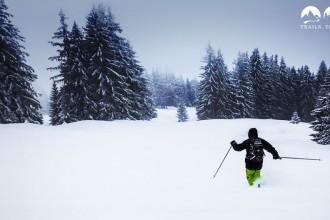 Downhill-Spaß im Schnee