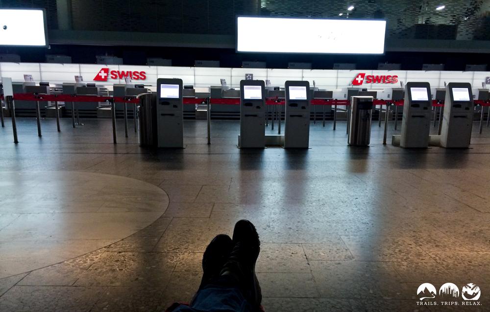 Die Nacht auf dem Flughafen Zürich