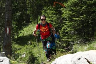 Yvonne Lehnert beim Zugspitz Ultratrail 2014. Später wurde sie mit Kathrin Schichtl 2. beim Transalpine Run
