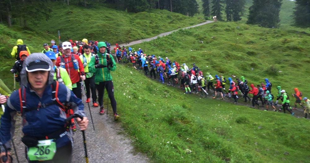 Starterfeld beim ersten Uphill