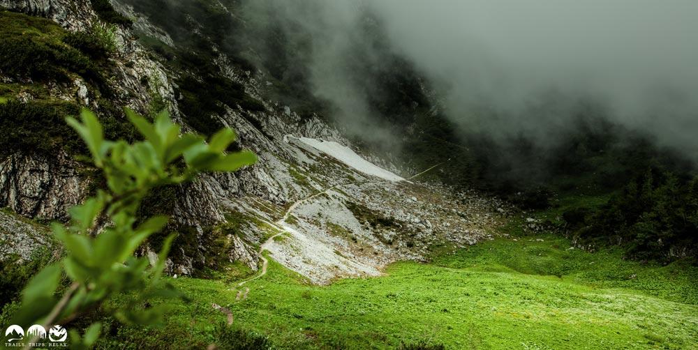 Trail unterhalb vom Alpspixx