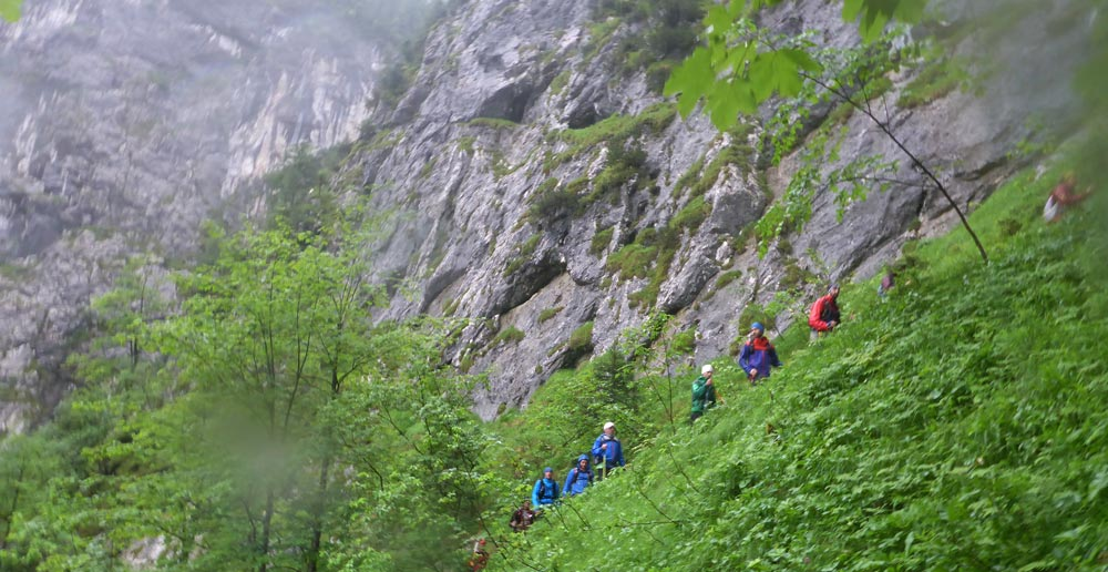 Uphill im Höllental