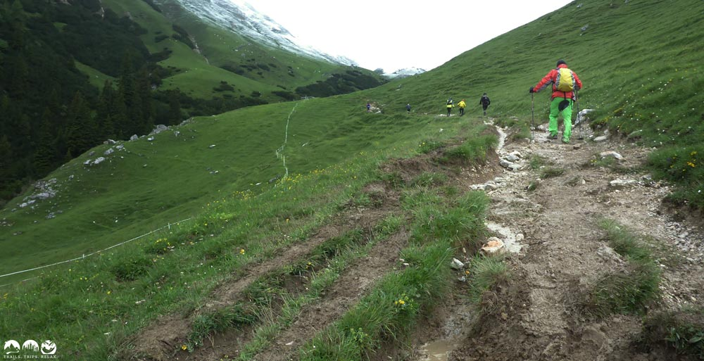 Uphill zum Scharnitzjoch