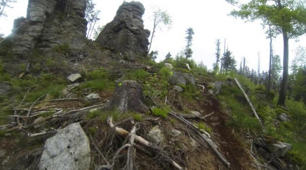 An Felsen entlang