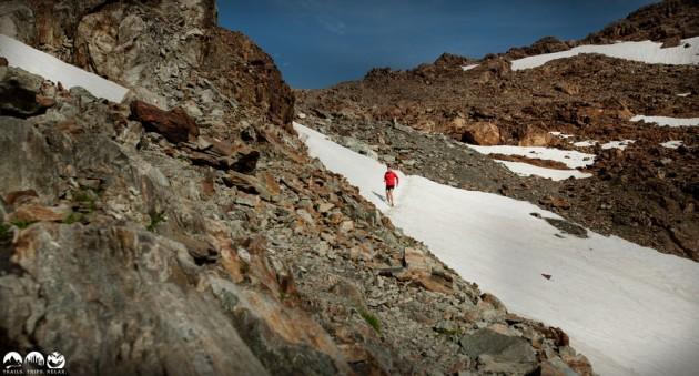 Downhill von der Mittagskogel-Scharte
