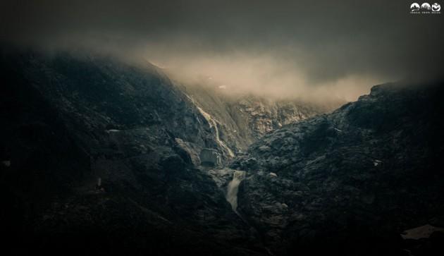 Pitztal-Gletscher in den Wolken