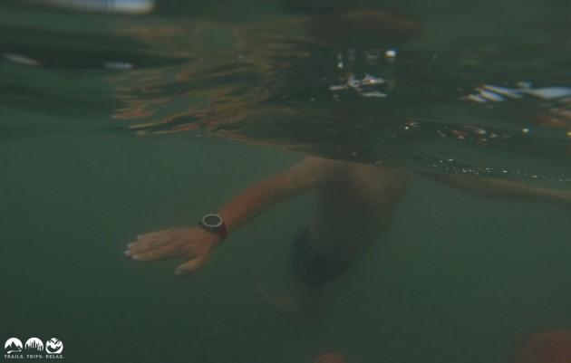 Garmin Febix 3 unter Wasser