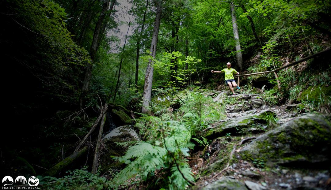 Downhill in der Römerschlucht