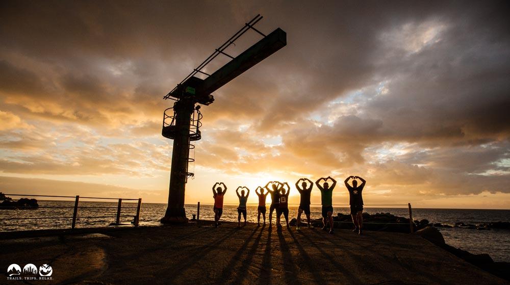 Yoga am Hafen