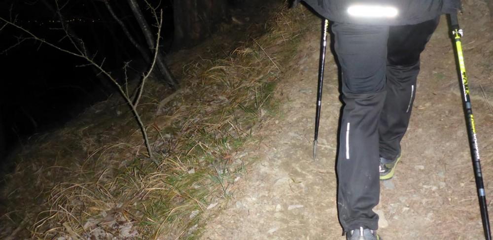 Hinter Hermi in der Nacht