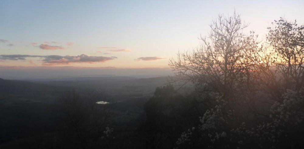 Sonnenuntergang am Hohenhewen