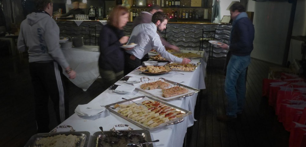 Das Buffet der Pre-Race Party