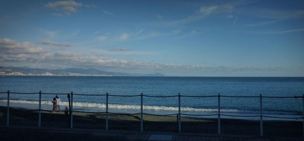 Blick auf das Mittelmeer und Genua