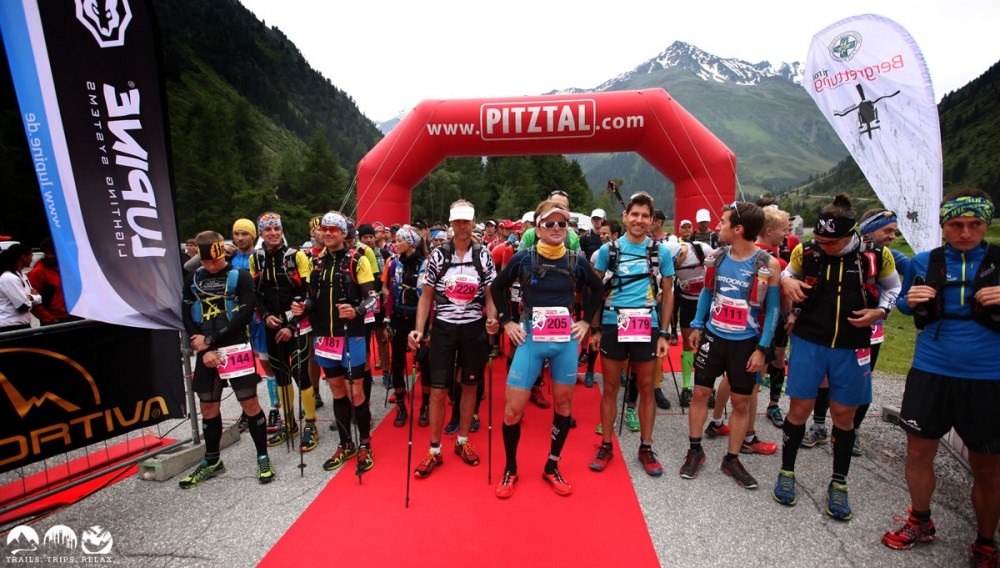 Start-Linie des Pitztal Trail Race