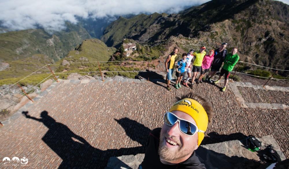 Selfie am Pico Ruivo auf Madeira