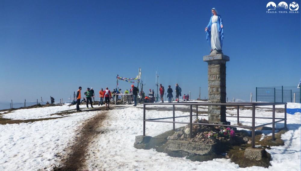 Gipfel des Petit Ballon mit der Marien-Statue