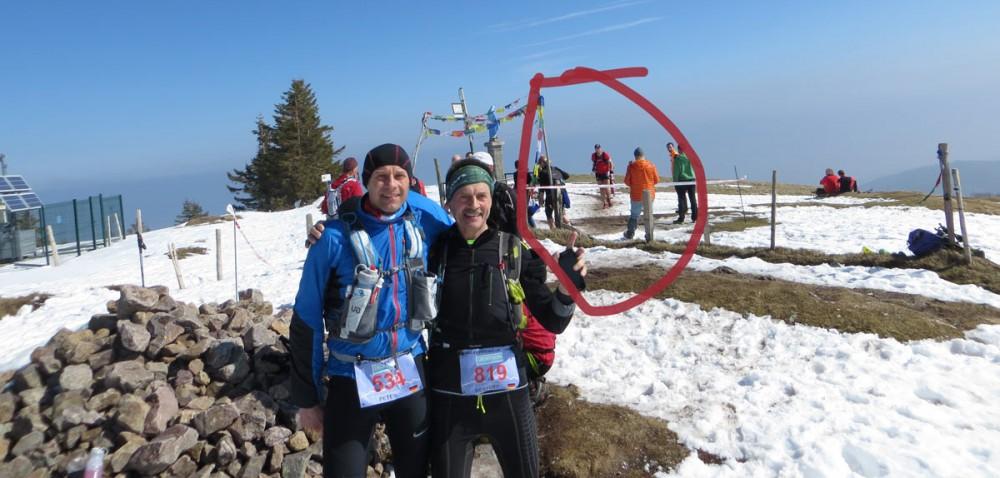 Gipfel-Foto von Peter und Herbert. Und mir.