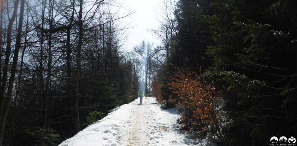 Oben hat es noch einiges an Schnee