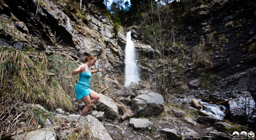 Durch den Faltenbachtobel an den Wasserfällen vorbei