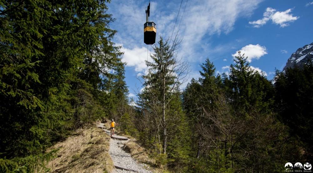 Florian im Wettstreit mit der Nebelhornbahn