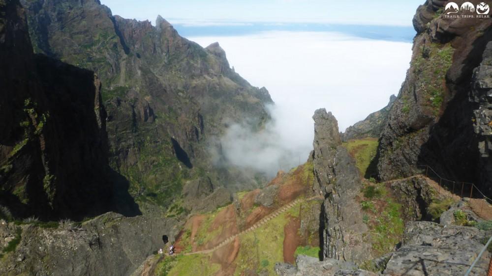 Der spektakuläre Trail zwischen Pico Ruivo und Pico Areeiro