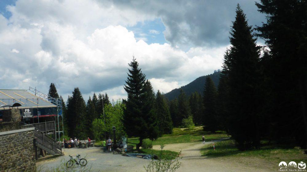 Chamer Hütte unterhalb des Kleinen Arber