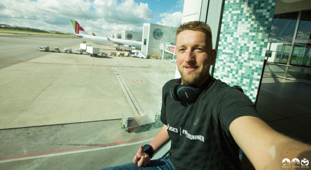 Das Selfie am Flughafen Lissabon