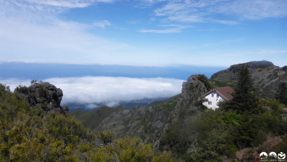 Geschafft. Das Refugio Pico Ruivo